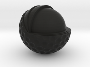 Golf Ball Cutted in Black Natural Versatile Plastic