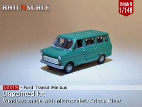 Ford Transit Minibus (British N 1:148) in Smooth Fine Detail Plastic