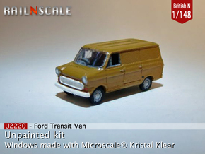 Ford Transit Van (British N 1:148) in Smooth Fine Detail Plastic