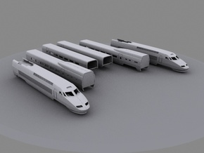 TGV (1:220) in Smooth Fine Detail Plastic