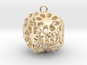 Christmas Bauble No.3 in 14K Yellow Gold