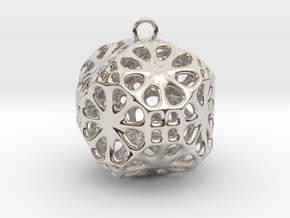 Christmas Bauble No.3 in Platinum
