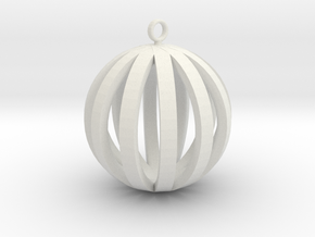 Round Pendant in White Natural Versatile Plastic
