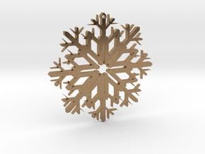 SnowFlake Design in Natural Brass
