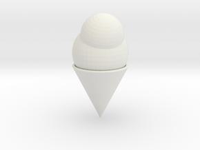 Ice Cream Cone in White Natural Versatile Plastic
