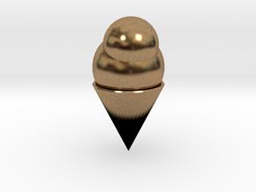 Ice Cream Cone in Natural Brass