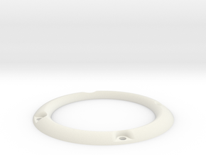 RM30 3D Zierring M4 in White Natural Versatile Plastic