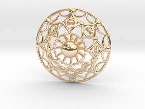 Mandala Flux Pendant in 14K Yellow Gold