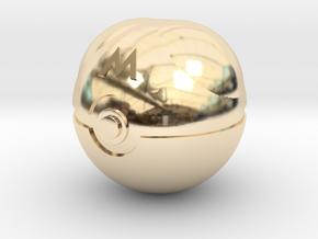 Master Ball Original Size (8cm in diameter) in 14K Yellow Gold