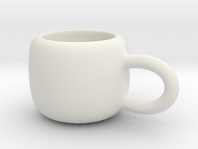 Mini Demitasse Cup in White Strong & Flexible
