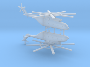 1/700 Mi-26 Halo Helicopter (x2) in Smooth Fine Detail Plastic