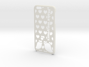 iPhone 6 Plus Case - Customizable in White Natural Versatile Plastic