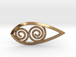 Tear Spiral Pendant in Natural Brass
