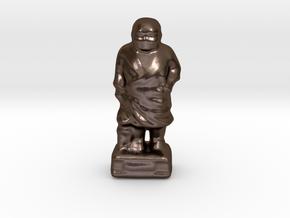 The Saigousan-mini in Polished Bronze Steel