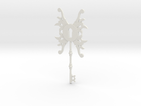 Steampunk Key  in White Natural Versatile Plastic