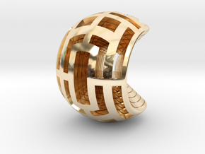 Multilayer Open Sphere Light,  HandHeld Toy. in 14K Yellow Gold