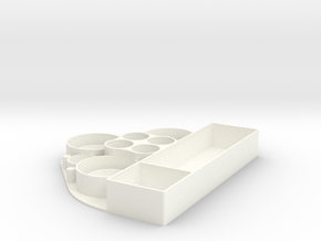 eGO Style E Cigarette Organizer and Holder in White Processed Versatile Plastic