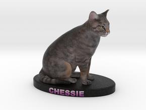 Custom Cat Figurine - Chessie in Full Color Sandstone