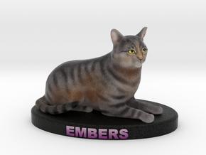 Custom Cat Figurine - Embers in Full Color Sandstone