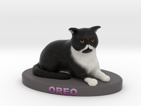 Custom Cat Figurine - Oreo in Full Color Sandstone
