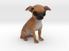 Custom Dog Figurine - Bowser in Full Color Sandstone