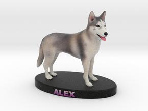 Custom Dog Figurine - Alex in Full Color Sandstone