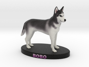 Custom Dog Figurine - Chabrui in Full Color Sandstone