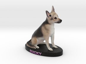 Custom Dog Figurine - Bucky in Full Color Sandstone