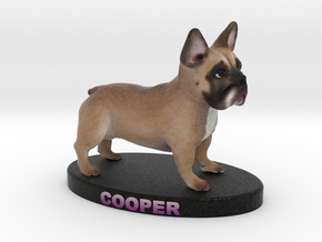 Custom Dog Figurine - Cooper in Full Color Sandstone