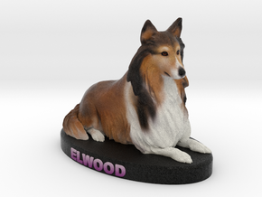 Custom Dog Figurine - Elwood in Full Color Sandstone
