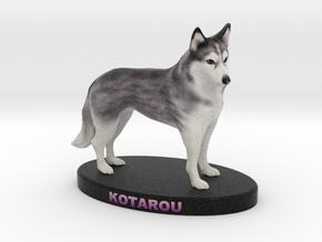 Custom Dog Figurine - Kotarou in Full Color Sandstone
