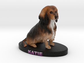 Custom Dog Figurine - Katie in Full Color Sandstone