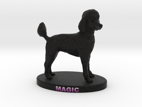 Custom Dog Figurine - Magic in Full Color Sandstone