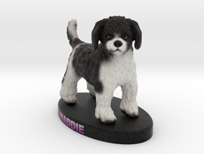Custom Dog Figurine - Maddie in Full Color Sandstone