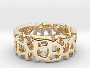 Voronoi Ultimate Man Ring in 14K Yellow Gold