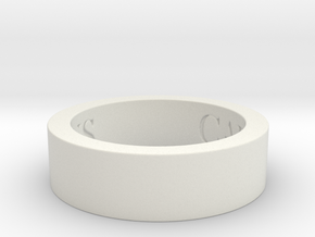 Carrera Design Ring Ring Size 7.5 in White Natural Versatile Plastic