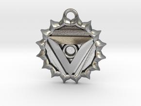 Vishuddha (Throat Chakra) Pendant in Natural Silver