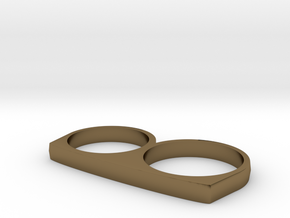Dyplos Ring in Polished Bronze