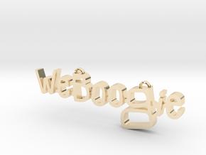 Weboogie Pendant in 14K Yellow Gold