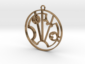 Scarlett - Necklace in Natural Brass