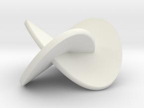 Trefoil-bandfull3 in White Natural Versatile Plastic