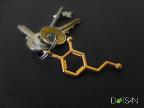 Dopamine Keychain Polished Gold Steel in Polished Gold Steel
