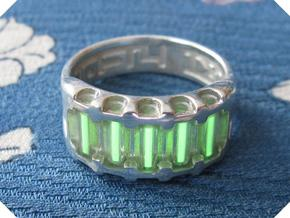 US9.25 Ring IX: Tritium in Polished Silver