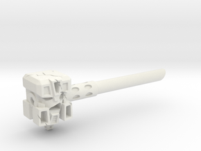 Ignoble Foe - 5mm Makeshift Battle Hammer  in White Natural Versatile Plastic