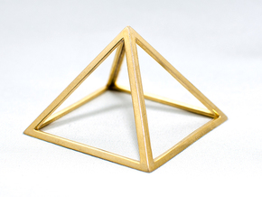Perfect Pyramid in 14k Rose Gold Plated Brass
