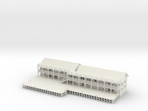 Ship Dock With Buildings in White Natural Versatile Plastic
