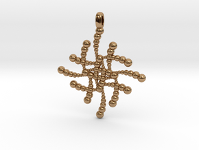 SUBATOMICAL Spheres Designer Jewelry Pendant. in Polished Brass