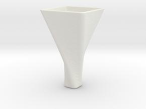 Mini Vase in White Natural Versatile Plastic