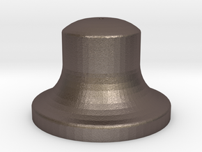 """3/4"""" Scale Bell in Polished Bronzed Silver Steel"""