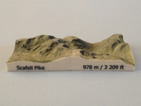 Scafell Pike - Photo in Full Color Sandstone